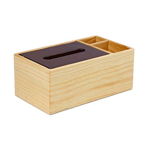 PRIDE S Massief hout multifunctionele tissue box Afstandsbediening opslagdoos Creative Book Box salontafel desktop woonkamer Opbergdoos