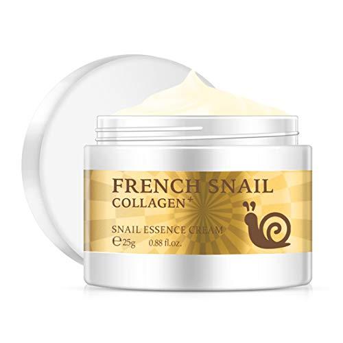 Crema de caracol ácido hialurónico blanqueador Crema facial antiarrugas Tratamiento contra el envejecimiento para el acné Hidratante Crema reparadora reafirmante - Blanco