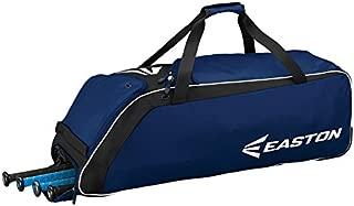 EASTON E510W Bat & Equipment Wheeled Bag   Baseball Softball   2020   4 Bat Compartment   Vented Pockets - Minimize Odor & Quick Dry   Removable Shoe Panel   Zippered Pockets   Fence Hook