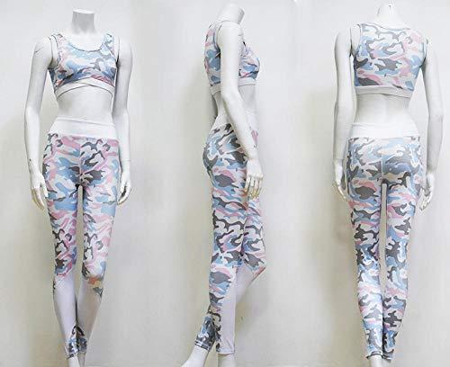 RRUI Vrouwen Panty Leggings Gedrukt yoga nummer nieuwe broek stretch vrouwen nylon hoge taille nieuwe broek vrouwen gradiënt ruit M