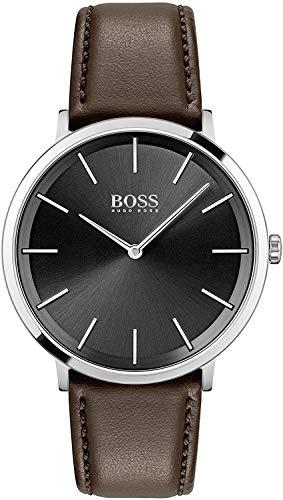 Hugo BOSS Reloj Analógico para Hombre de Cuarzo con Correa en Piel de Becerro de Cuero 1513829