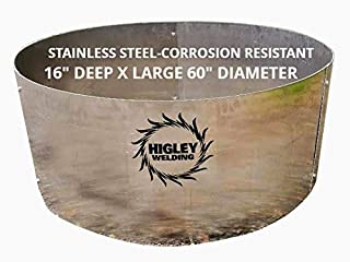 Stainless Steel Fire Pit Liner Campfire Ring Large 16