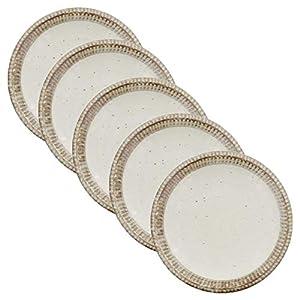 テーブルウェアイースト プレート 4寸皿 渕錆粉引 5枚セット プレート 和食器 皿 小皿 取り皿 醤油皿