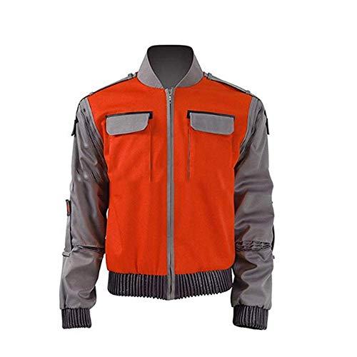 CHANGL Film Zurück in die Zukunft Cosplay Jacke Jr Marlene Seamus Marty McFly Kostüm Orange Mantel Outwear Männer Halloween Karneval Outfit