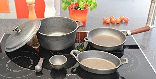 Batería de cocina de hierro fundido seis piezas (Kazan)