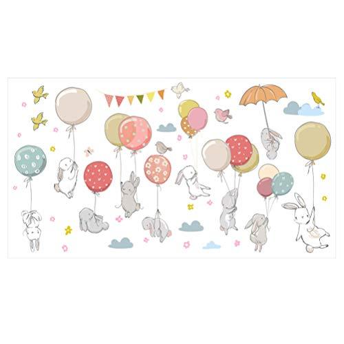 Garneck Konijn Muursticker Dier Muursticker Konijn Muur Sticker Cartoon Dierentuin Zelfklevend Behang Muurschildering Achtergrond Voor Kinderen Kinderen Peuters Jongens Meisjes
