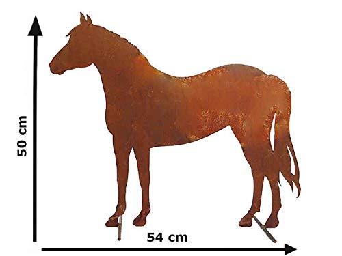 itsisa ® Dekofigur Pferd im Rost Design, Rostfigur für den Garten, Gartendeko, Metalldeko, Terrassendeko