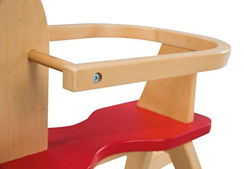 roba Schaukelpferd, Schaukeltier Massivholz natur rot, Schaukelstuhl mitwachsend für Babys und Kleinkinder durch abnehmbaren Schutzring - 5