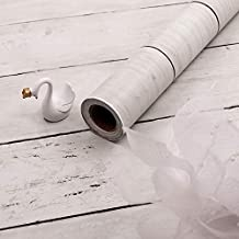 White Wood Wallpaper Self-Adhesive Shiplap Removable Wallpaper Peel and Stick Wallpaper Kitchen Countertop Home Decoration Shlef Liner Vintage Wood Plank Wood Grain Film Vinyl Wallaper 17.71