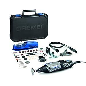 Dremel 4000 – Multiherramienta, 175 W, kit con eje flexible, 65 accesorios y 4 complementos, velocidad variable 5.000 – 35.000 rpm para tallar, grabar, fresar, amolar, limpiar, pulir, cortar y lijar