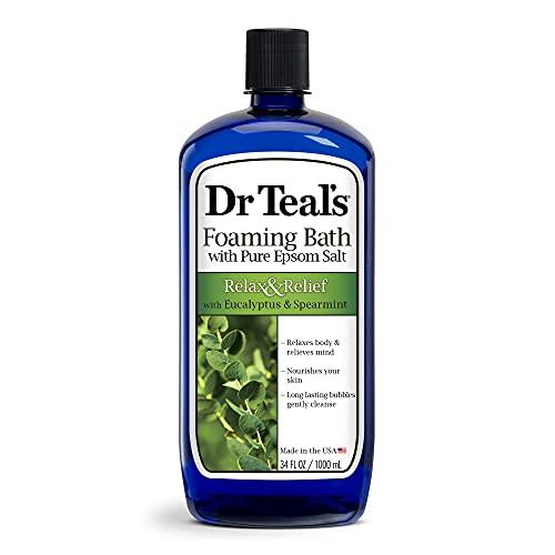 Dr. Teal's Foaming Bath (Epsom Salt), Eucalyptus Spearmint, 34 Fluid Ounce