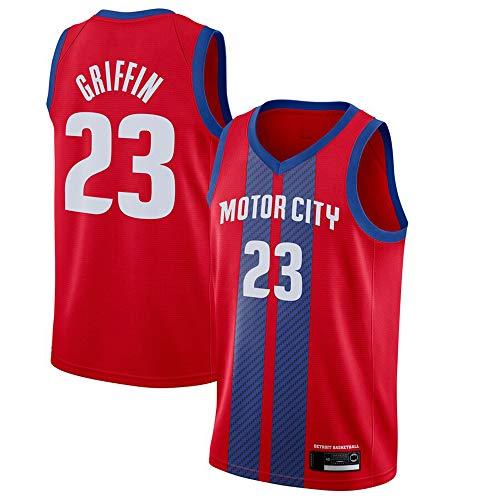 YZQ Jerseys - Men's Edition NBA Detroit Pistons # 23 Blake Griffin - Camiseta Deportiva De Jersey De Baloncesto Camiseta Sin Mangas,XXL(185~190cm/95~110kg)