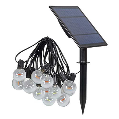 WYFX Luces de Bulbo Solar de 5W 6V, 4 Modos, 25 lámparas de 3V / G40LED, luz de Burbuja navideña Impermeable IP65 3.7V4000mah, Linterna Decorativa Solar de jardín de Patio