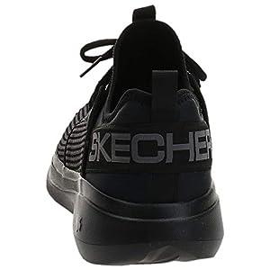Skechers mens Go Run Fast Valor - Performance Running and Walking Shoe Sneaker, Black, 11 US