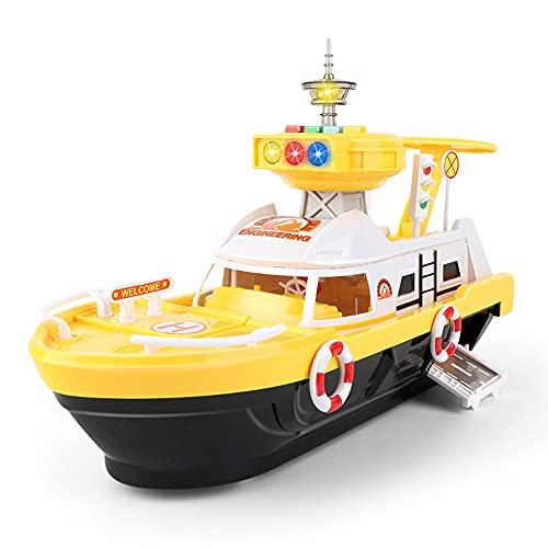 QHYZRV Barco de Almacenamiento inercial Grande con luz y música Barco inercial Serie de ingeniería...