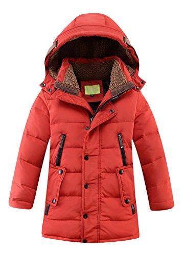 Daunenjacke für Kinder kälteschutz lange Jacke mit abnehmbar Kapuze in 160