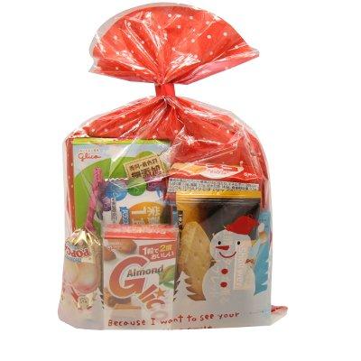 クリスマス袋 グリコのお菓子詰め合わせ 450円 袋詰め おかしのマーチ