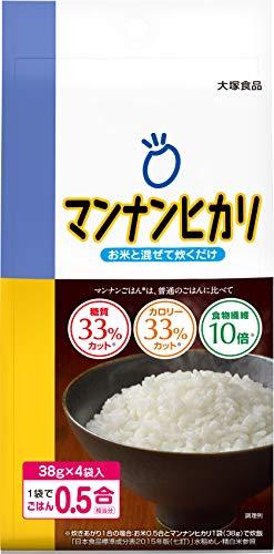 大塚食品 マンナンヒカリ 152g [スティックタイプ(38g×4袋入)]
