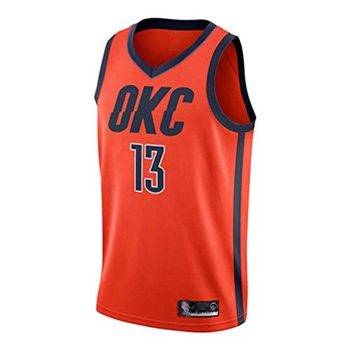 OKC (Paul George Urban Nr. 13 und Anthony Nr. 7) Basketballkleidung Oklahoma City Thunder Trikot Kinder junge Männer Damen klassische ärmellose Herren Basketball Weste Hemd Shorts Anzug-XXL-orange
