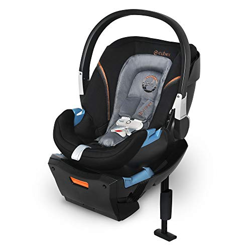 CYBEX Aton 2 with SensorSafe, Convertible Car Seat, Ultra-Lightweight Infant Seat, Real-Time Mobile App Safety Alerts, Removable Newborn Insert, Side-Impact Protection, Pepper Black