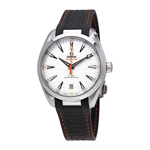 Omega Seamaster Aqua Terra teca plata Dial Mens Reloj de correa de goma gris 220.12.41.21.02.002