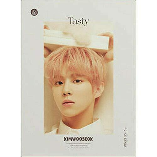 X1 KIM WOO SEOK [TASTY] 2nd Desire Album CREAM Ver. CD+1p FOLDED...