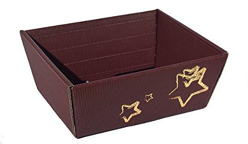 10X–Cesto regalo di natale stella piccola–Natale Cesto, cestino, Cestino in cartone ondulato