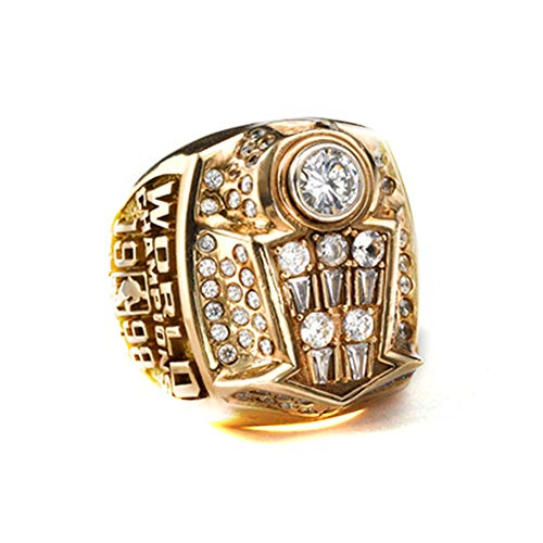 Fei Fei NBA 1998 Michael Jordan Chicago Bulls Championship Ring Anillos de Campeonato campeones de Baloncesto Anillo de réplicas de Aficionados colección Hombres de Recuerdo