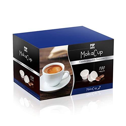 100 CAPSULE POP CAFFE MOKA-CUP 2 CREMOSO COMPATIBILI DOMO TERMOZETA ESPRESSO CUP