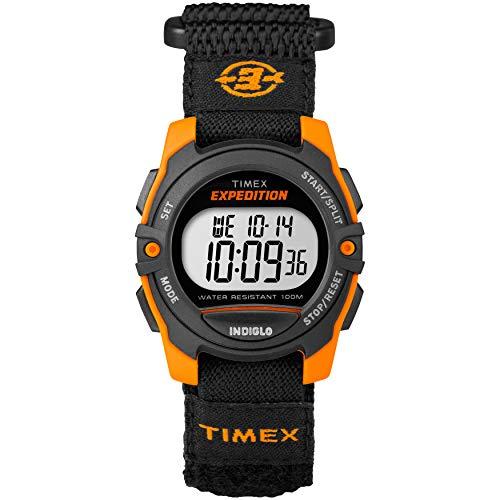 Timex Unisex TW4B07900 Expedition Mid-Size Digital CAT Black/Orange Fast Wrap Watch