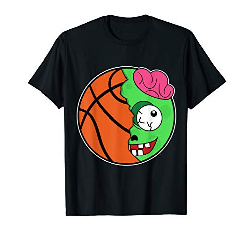 Basketball Zombie Head Costume Easy Sports Halloween Gifts T-Shirt