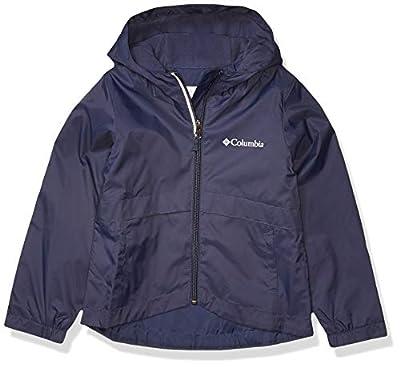 Columbia Girls' Little Rain-Zilla Jacket, Waterproof, Reflective, Nocturnal, Small