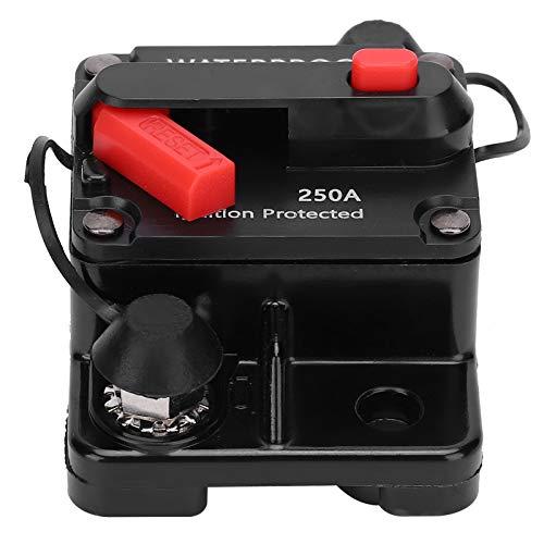 SEDOOM Disyuntor, Interruptor Automático Impermeable De Cobre con Portafusibles De Reinicio Automático, Rojo, DC12‑42V, 250A