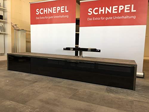 Schnepel S1 Lowboard LB-1 Sound SK Links Korpus Pasadena mit Akustikstoff Front Schwarz