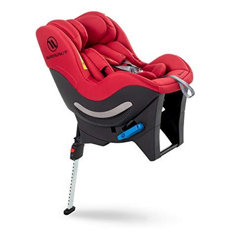 Silla de seguridad infantil Avionaut Sky RWF | silla de coche reboard (orientada hacia atrás) | silla de coche grupo 0+/1/2 (0-25kg, 40cm-125cm) | para bebés y niños de 0 a 7 años | Warsaw Rojo