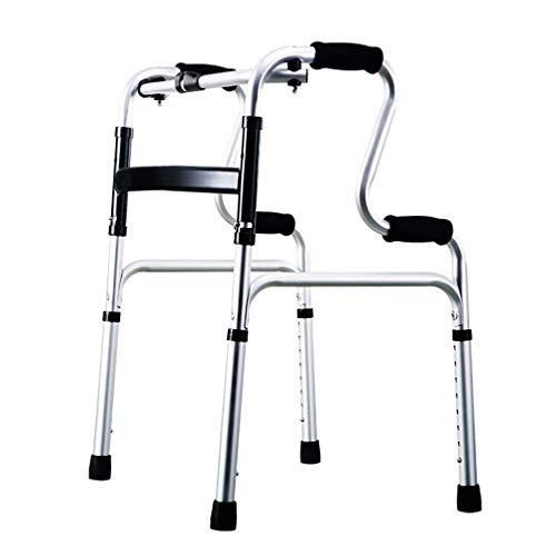 Caminantes para personas mayores Caminante plegable de aluminio ligero, armario de marco para caminar - soporte de caña de altura ajustable para personas mayores, geriátricas, bariátricas Rollator Wal