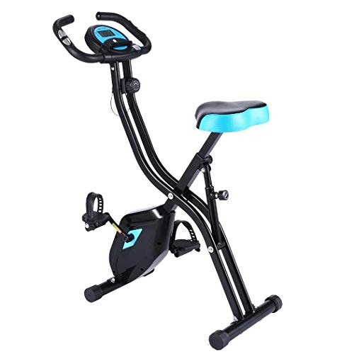 Best Review Of Folding Exercise Bike Time Speed Calorie Display Spinning Bike Fat Burning Weight Los...