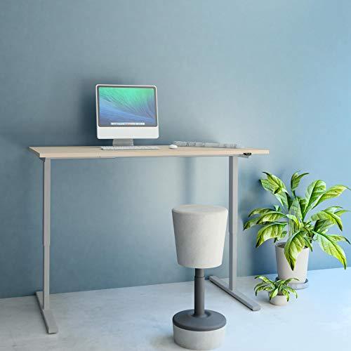 PROFI elektrisch höhenverstellbar Schreibtisch EASY 180x80cm Motortisch LINAK, Gestellfarbe:Silber