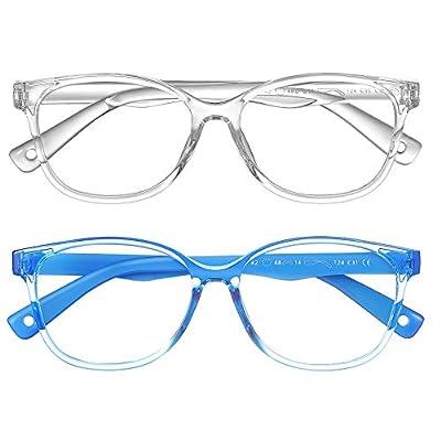 NineUp Blue Light Blocking Glasses Kids 2Pack f...