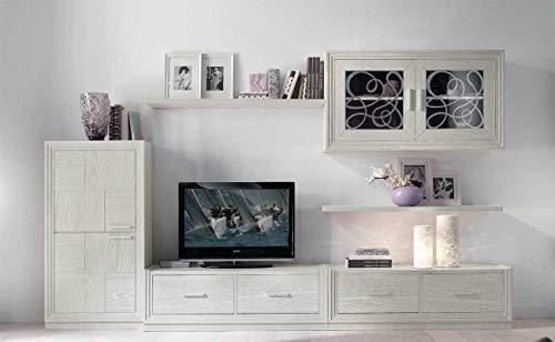 Artigiani Veneti Riuniti Mueble de TV con Vitrina y Estante Dublino