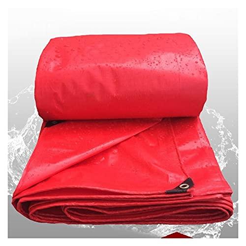 Dicke 0,23mm Rot Regendicht Tuch Wasserdichte Plane Garten Leinwand Im Freien Markise Sonnenschirm Tuch Sukkulenten Pflanzen Abdeckung (Color : 3x4m)
