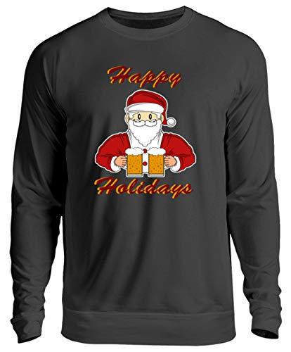 SPIRITSHIRTSHOP Happy Holidays - Sinterklaas, Kerstmis, feesten, bier, drinken, winkelen - Unisex trui