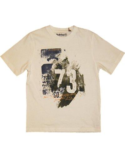 Timberland T-Shirt creme-128 - Kindermode : Jungen