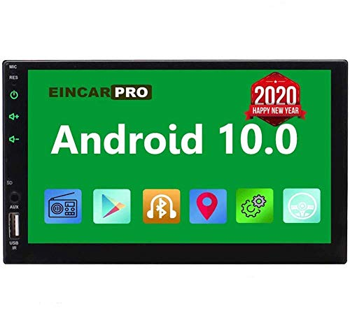 EinCar Car Radio Double Din Android 10.0 Car Stereo 2 Din GPS Navigation 7 inch Touch Screen Bluetooth Head Unit in Dash Quad Core 16GB Support SWC WiFi Mirrorlink 1080P FM Video Player