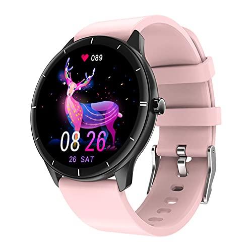 shjjyp Smartwatch Reloj Inteligente Responder Whatsapp Y Llamadas para Mujer con Termómetro Monitor De Frecuencia Cardíaca Pulsómetro 24 Mode Deporte Pulsera Actividad Inteligente para Android iOS