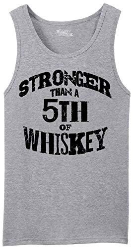 Comical Shirt Men's Tank Top Stronger Than 5th of Whiskey Sport Grey M