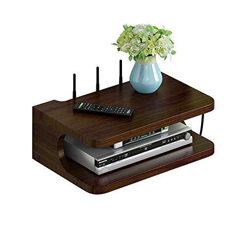 FENDOUBA Estante de La Pared, Soporte de Pared Soporte TV Box Set-Top Box Módem Decodificador de Cable Reproductor de DVD para Dispositivo de Transmisión de WiFi Router Player