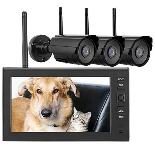 Sistema de cámara de infrarrojos LCD Monitor de seguridad inalámbrico(American standard (110-240V))