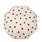 JUNDY Faltbarer Kompakt Taschengröße Sonnenschirm Regenschirme Kreative Frucht frische Regenschirm colour4 105cm