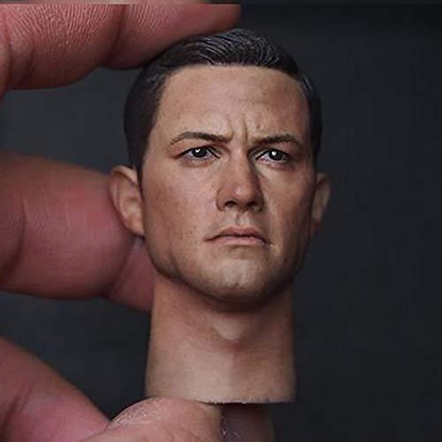 ZSMD Cabeza de bruce Wayne Batman Robin Detective Black Joseph Male Man Head Carving Headplay for 12' Action Figure Body